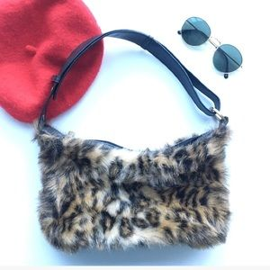 CHEETAH LEOPARD PRINT MINI SHOULDER BAG VINTAGE